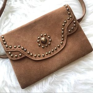 Free People Bags - Free People Talia Suede Leather Belt Bag / Clutch